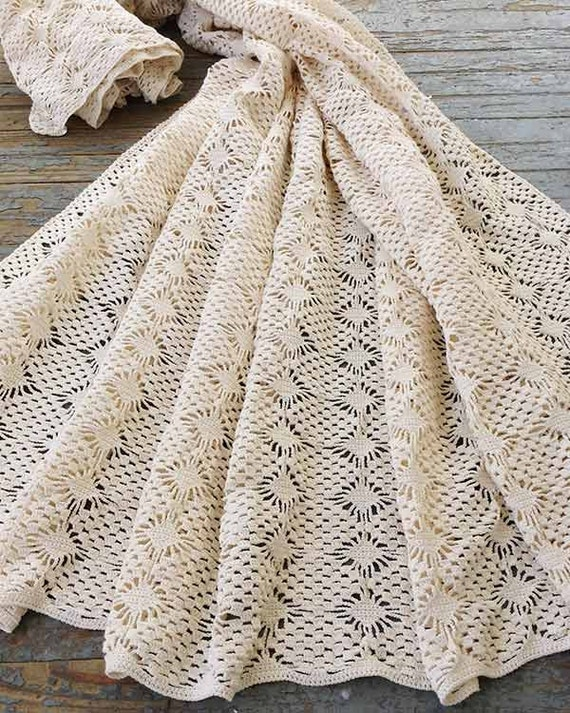 Spider Lace Bedspread Crochet Pattern Pdf Etsy