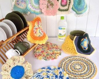 Dishcloths In The Round Crochet Pattern PDF