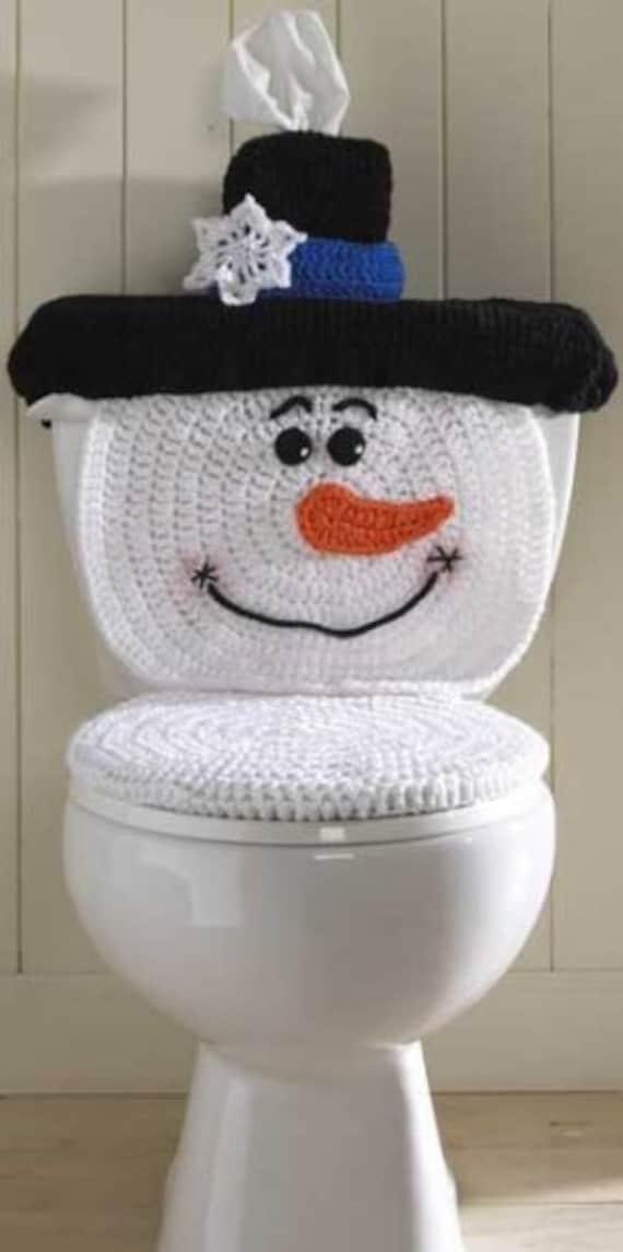 Snowman Toilet Cover Crochet Pattern Pdf Etsy