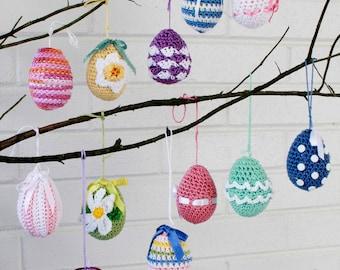 Elegant Easter Eggs Crochet Pattern PDF