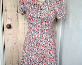 ad252bd6ba 1960s cherry print dress