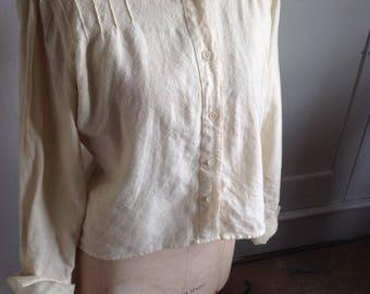 Cream tweed 1960s blouse /jacket size 16