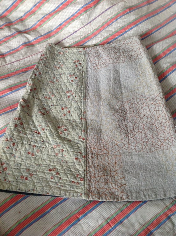 Quilted Anokhi skirt size UK 12 1990's