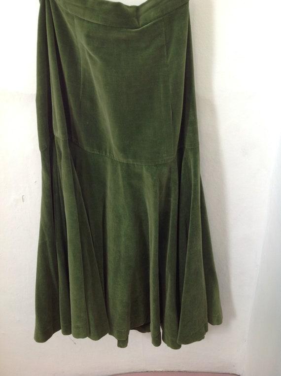 Alkasura 1960s green velvet skirt size 10