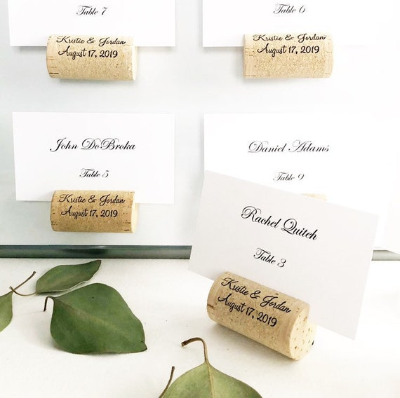 Magnetic Personalized Wine Cork Place Card Holder Wine Cork Etsy