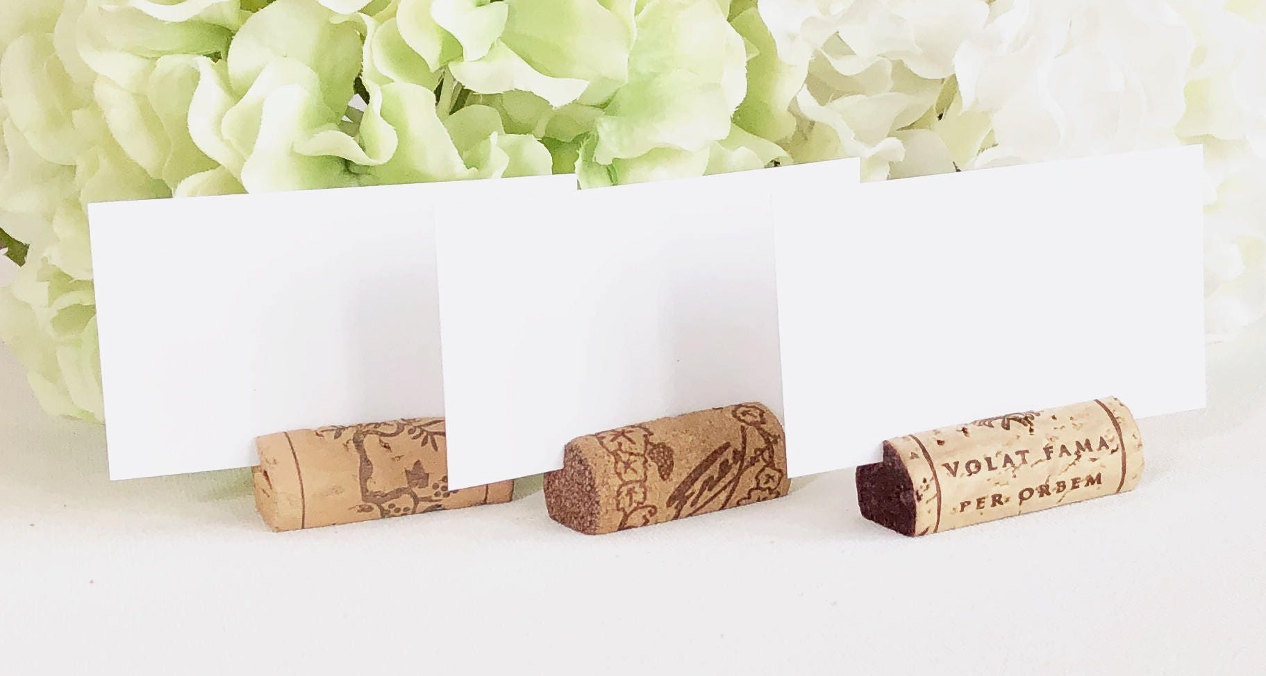 SALE Wine Cork Place Card Holders Variety Made from Real