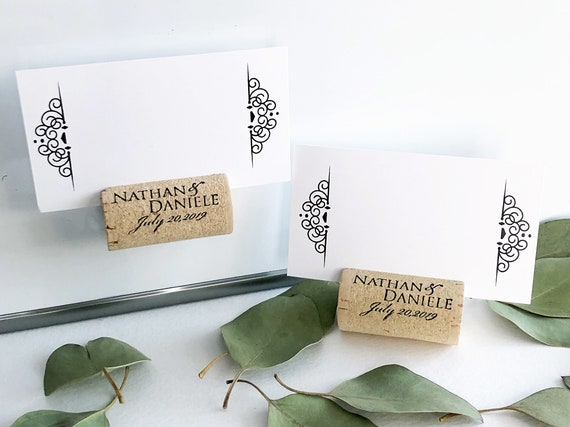 Magnetic Personalized Wine Cork Place Card Holders Etsy
