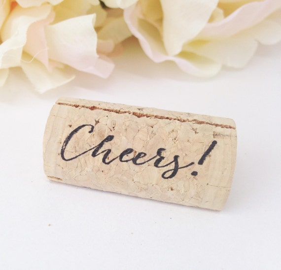 Cheers Custom Wine Cork Place Card Holder Personalized Wine Etsy