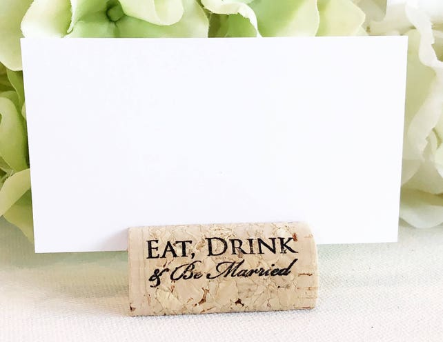 Wine Cork Place Card Holder Personalized Cork Card Holder Custom