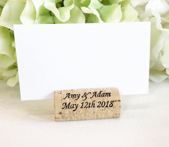 Wine Cork Place Card Holder Personalized Wine Corks Wine Cork Etsy