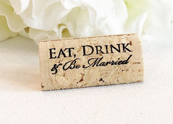 Wine Cork Place Card Holder Personalized Cork Card Holder Etsy