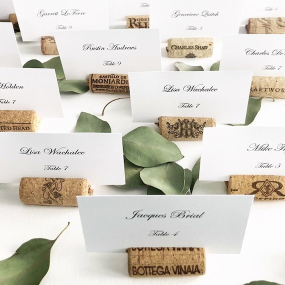Wine Cork Place Card Holders Variety From Real Recycled Etsy
