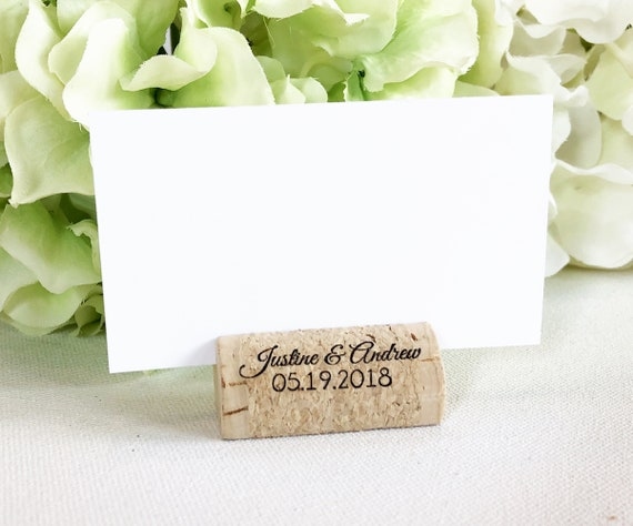 Personalized Wine Cork Place Card Holder Personalized Wine Etsy