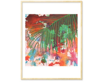 Her Abstract Gift Art, Modern Graphic Print, Abstract Print, Tropical Art, Tropical Decor, 8.5x11, Palm Tree, Beach Lover, Turquoise Decor
