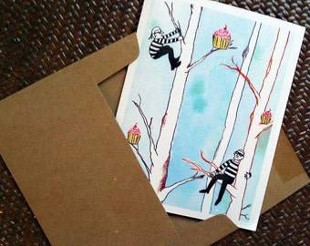 Birthday Card, Cupcakes, Whimsical, For Boyfriend, For Girlfriend, Awesome Birthday Card, Happy Birthday Card, Bday, Friend Birthday Card