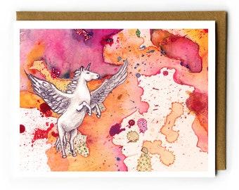 Pegacorn Card   Blank Card, Horse Lover, Fun Birthday Card, BFF Card, You Are Awesome