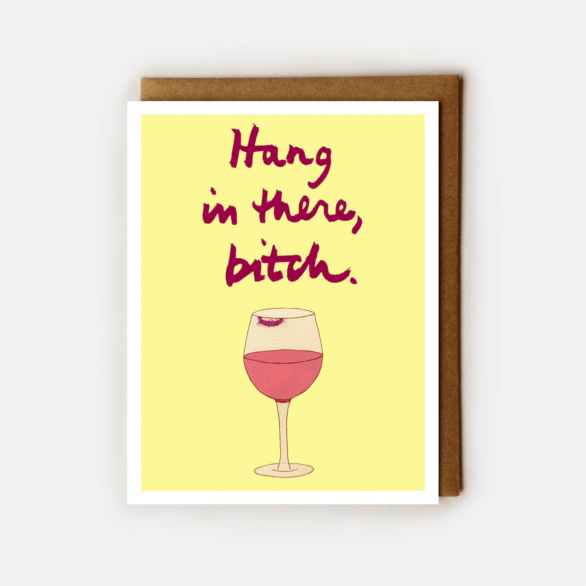 Snarky Card BFF Funny Birthday Wine Lover