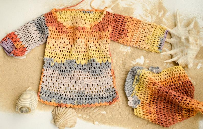 3b94bc6035f2 Crochet Baby Sweater Crochet Baby Clothes Hippie Kids
