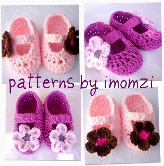 Pdf Crochet Pattern Mary Jane Slippers For Newborn To 2 Years Etsy