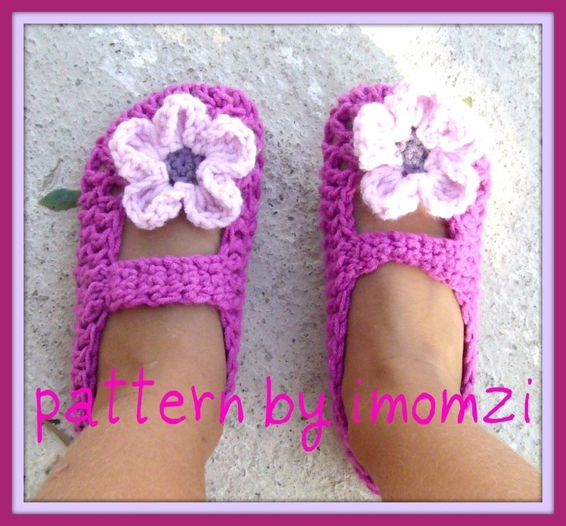 Crochet Pattern Pdf Mary Jane Slippers Pattern For 2 Years Etsy