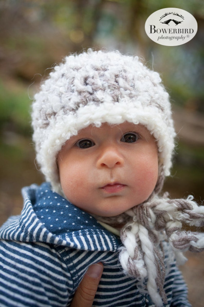 378ab402f7ee9 Baby Fuzzy Beanie Hat Crochet Baby Boy Cap Baby Photography