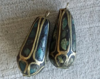 Pair Vintage Charms / Dangles with Tribal Influence