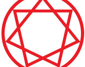 "Encircled Star of Babalon - 3"" vinyl sticker"