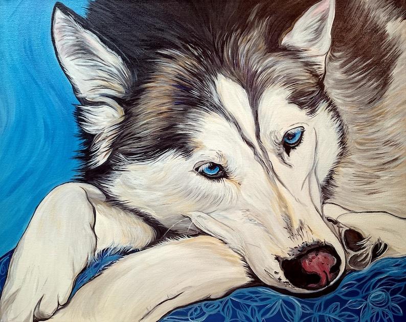 20x16 Custom Pet Portrait Original Painting Acrylic image 0