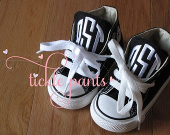 Monogrammed Baby CONVERSE Sneakers for little BOYS- Can also be made in girl colors