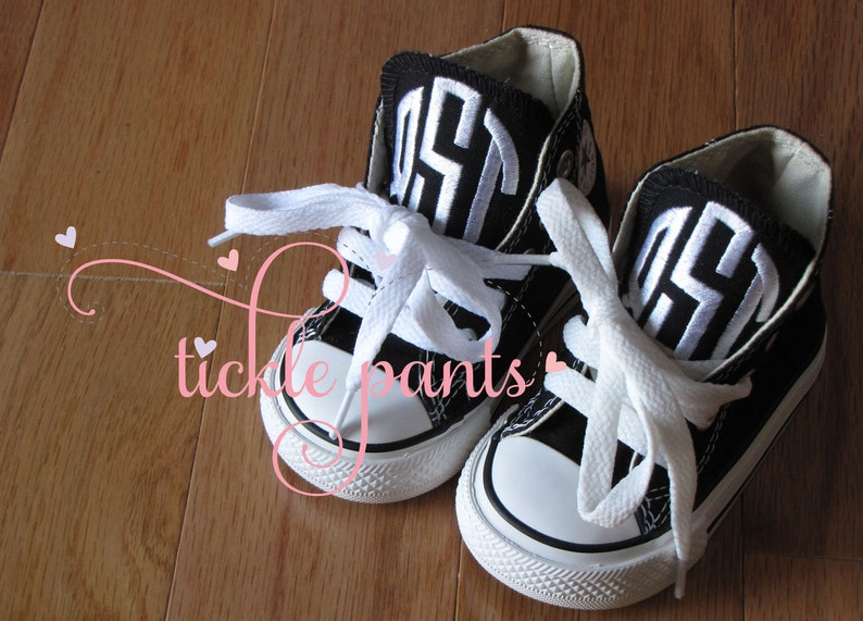 d475b216844e3 Monogrammed Baby CONVERSE Sneakers for little BOYS- Can also be made in  girl colors
