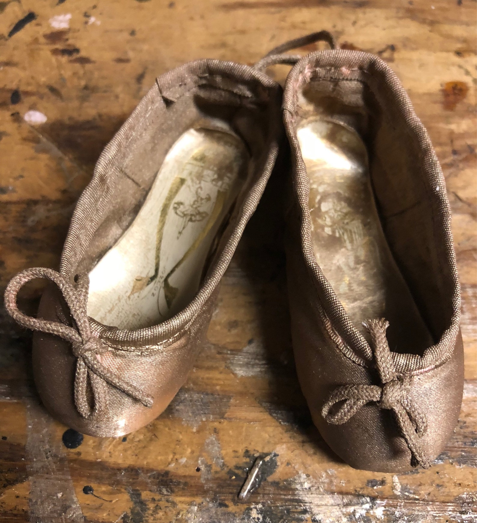 sweet vintage miniature ballet shoes