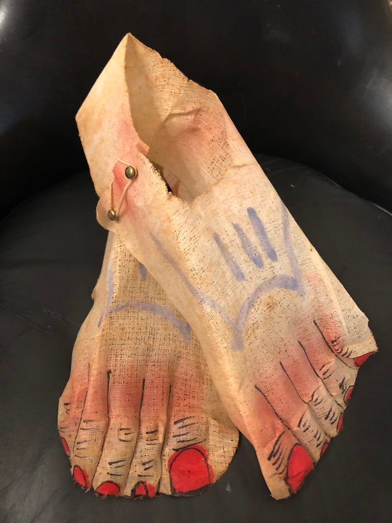 Antique antique mesh feet shoe covers Halloween cl
