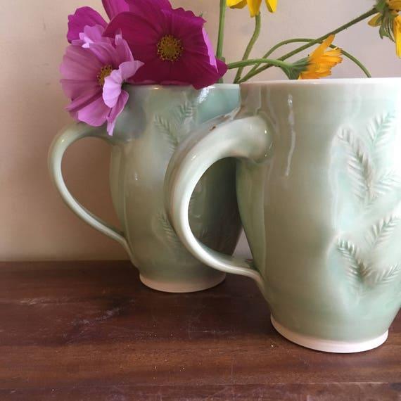 Fern Mug, Handmade Coffee Mug, Tea Mug,
