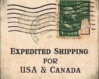 Expedited Shipping for USA, Canada