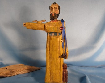 Carved St Francis Etsy