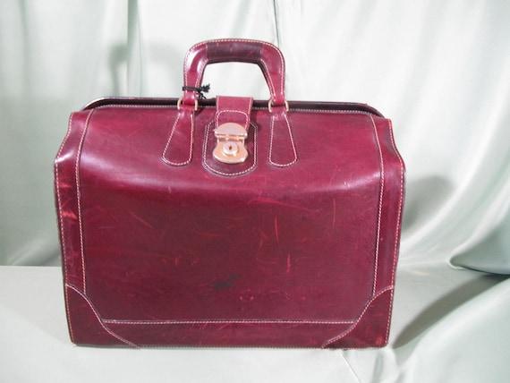 EDDIE BAUER LEATHER Briefcase,1960 All leather Vin