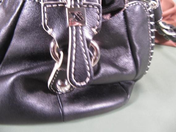 MAX NEW YORK Black Handbag,Designer Handbag from New York City,Black Glam bag,medium size zipper satchel zipper leather handbag black white