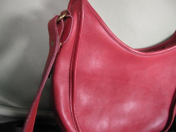 COACH HIPPIE BAG,Vintage Red Coach Shoulder Bag C… - image 2
