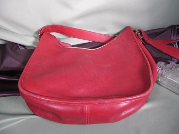 COACH HIPPIE BAG,Vintage Red Coach Shoulder Bag C… - image 6