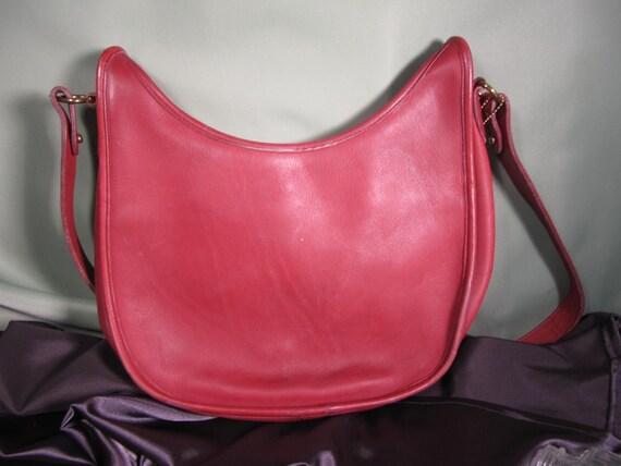 COACH HIPPIE BAG,Vintage Red Coach Shoulder Bag C… - image 3