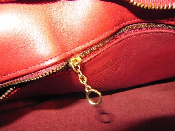 COACH HIPPIE BAG,Vintage Red Coach Shoulder Bag C… - image 10