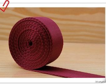 1 1//2 Inch Heavy Nylon Webbing//Strapping  Cherry Red  5 Yards