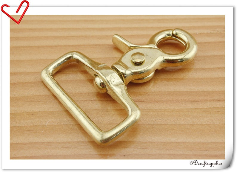 Solid Brass Lobster Claw Snaap hook PURSE STRAP Hooks T43 32MM one pcs of 1 14 inch