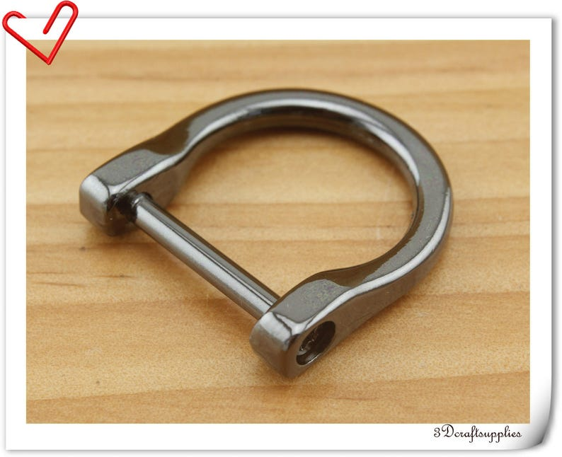 alloyed screw in D rings purse handle loops  Gunmetal 6 pcs CK67 19mm 34 inch