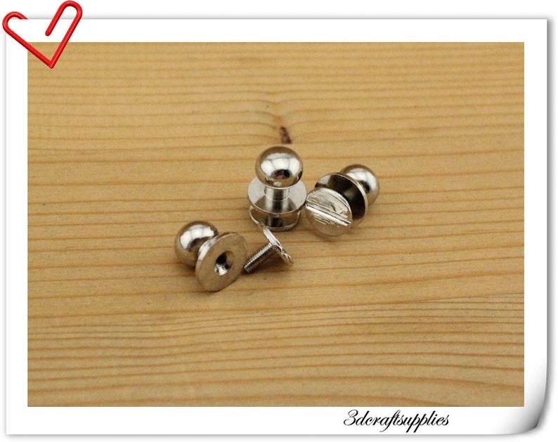 10mm Nickel screw in rivet nipple screws for purse wallet and belt  10 sets P112A