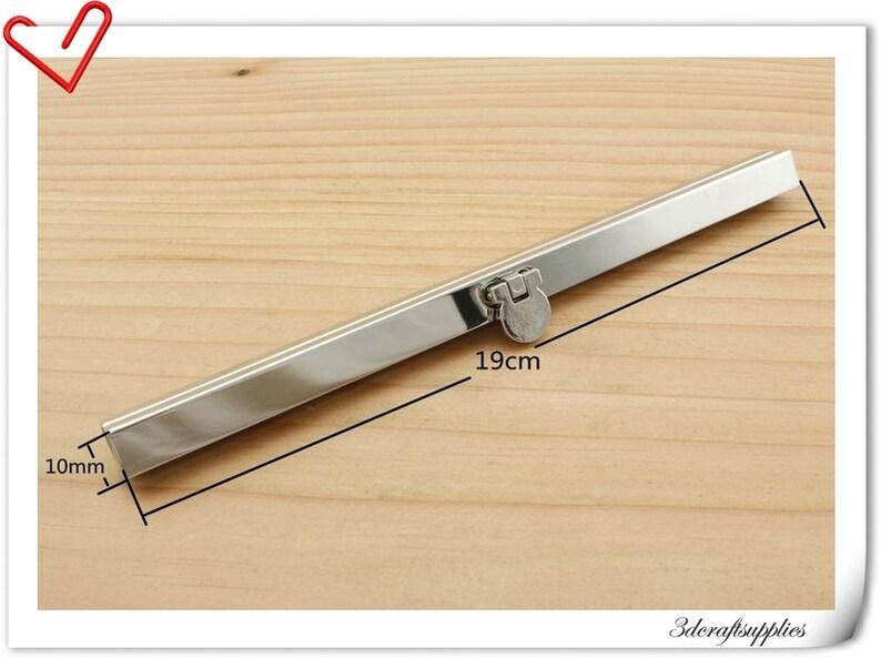 55afffe327d 7 1 2 inch Bar lock wallet purse frame silver D70