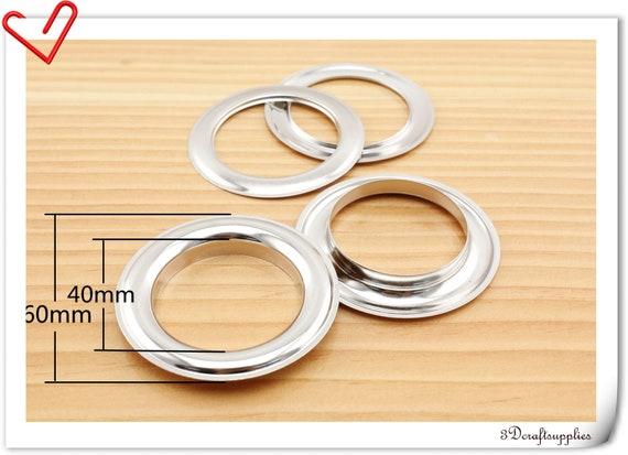 eyelets alloying metal screw on eyelet grommets nickel oval 8 sets 25 mm Z39B