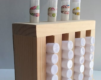 Lip Balm Tube Display 4 Slots Wooden Lip Balm Tube Tower Display