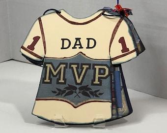 MVP Dad Father's Day/Birthday Sports Theme T-shirt Keepsake Card