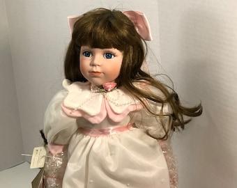 Vintage Evelyn Porcelain Doll